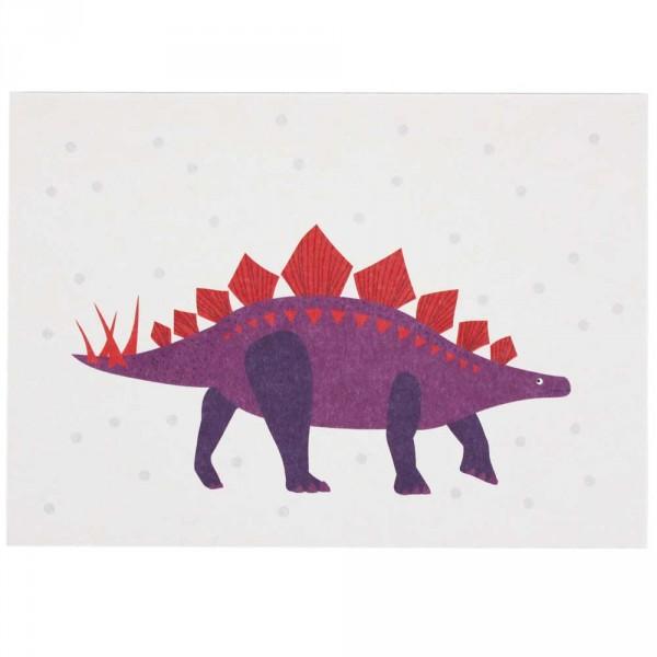 Ava & Yves Postkarte Dino violett