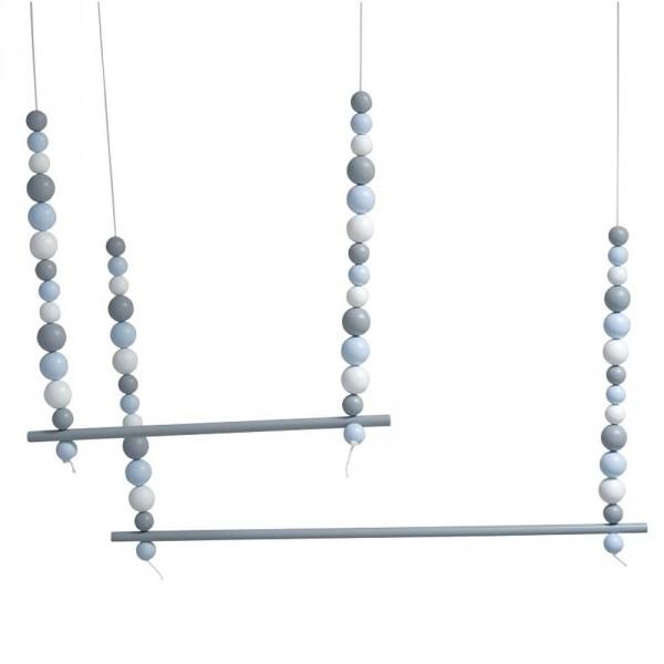 Caramella Hänge- Dekostange mit Kugeln blau
