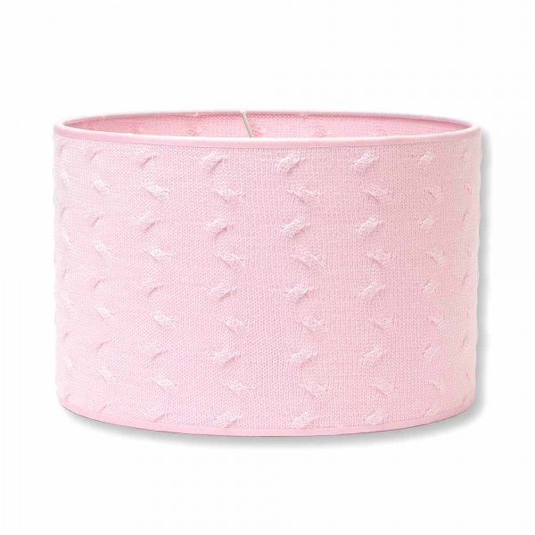 Baby`s Only Lampenschirm gestrickt Zopf uni rosa