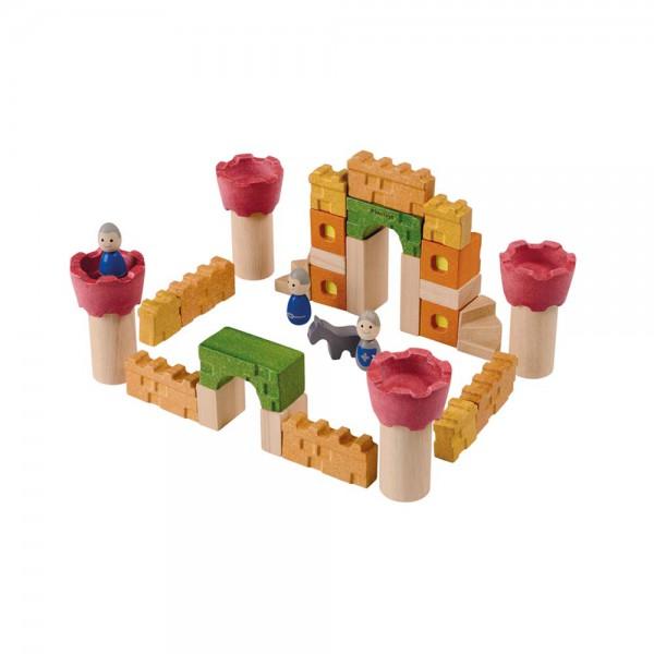 Plan Toys Baustein Set Ritterburg Holz bunt