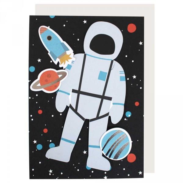 Ava & Yves Postkarte mit Umschlag Weltraum