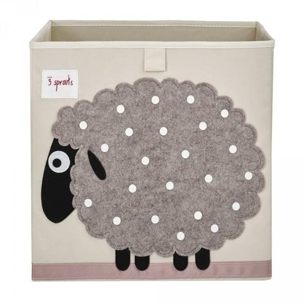 3 Sprouts Spielzeugkorb Schaf