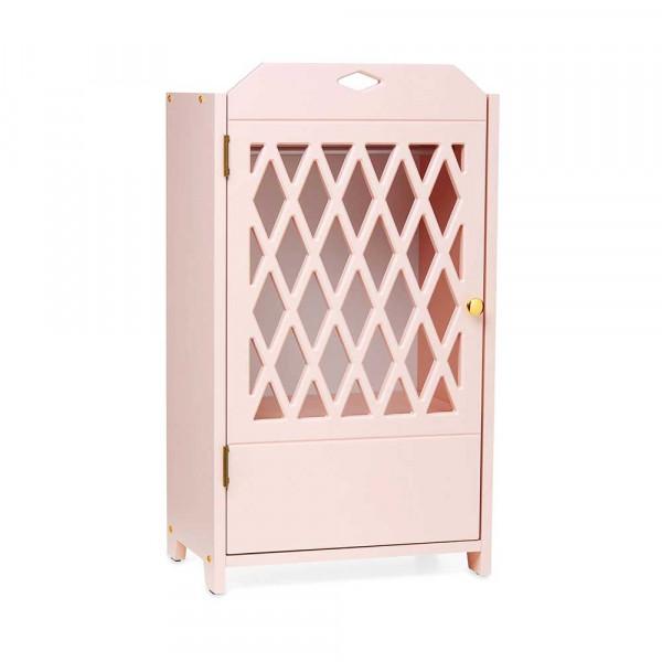 Cam Cam Puppen Kleiderschrank Harlequin rosa