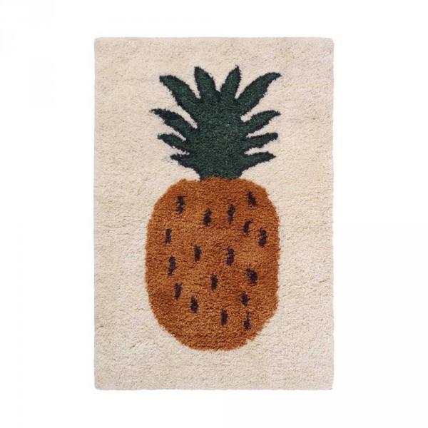 Ferm Living Wollteppich Fruiticana Ananas klein