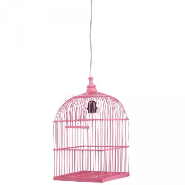 Kidsdepot Pendellampe Vogelhaus pink