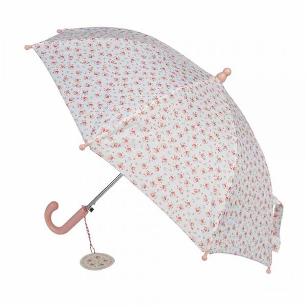 Rex London Regenschirm Petite Rose weiß rosa