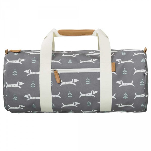 Fresk kleine Reisetasche Dackel grau