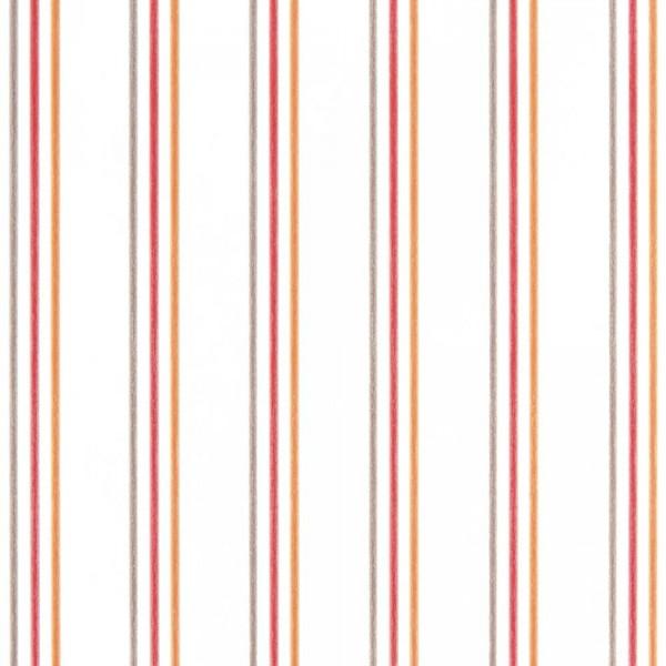 Casadeco Alice & Paul Tapete Streifen grau orange rot