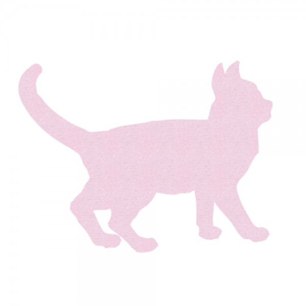 Inke Tapetentier Katze uni rosa
