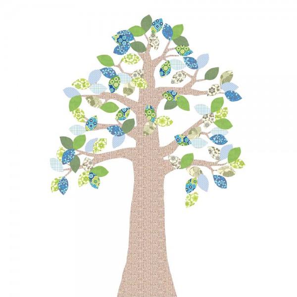 Inke Tapetenbaum Relief grün/blau