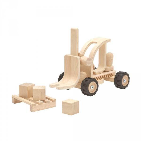 Plan Toys Gabelstapler Holz natur