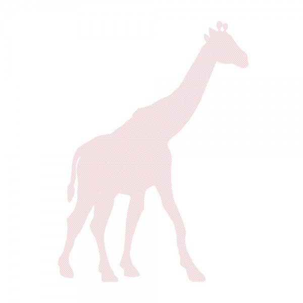 Inke Tapetentier Giraffe rosa Punkte weiss