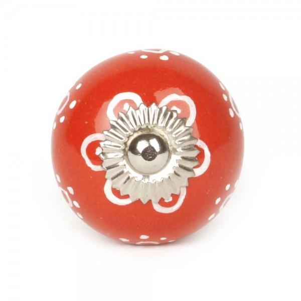 Knaufmanufaktur Möbelknopf floral rot