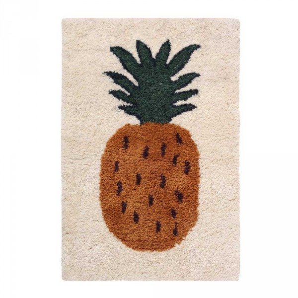 Ferm Living Wollteppich Fruiticana Ananas groß
