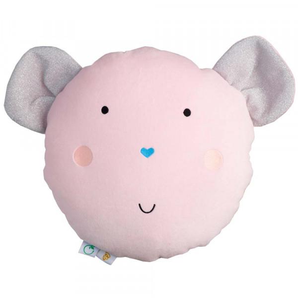 Wigiwama Spielkissen Samt Maus rosa