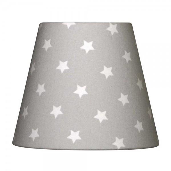 Nordika Lampenschirm grau Sterne weiss W1