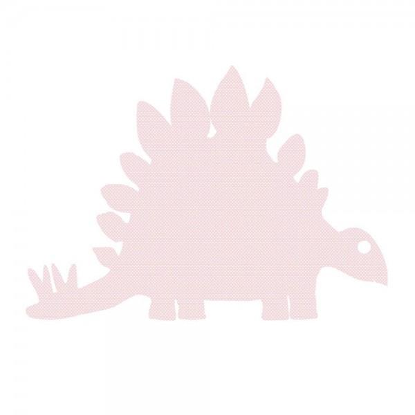 Inke Tapetendino Stagosaurus rosa Punkte weiss