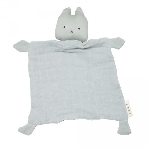 Fabelab Baby Schmusetuch Katze dunstblau