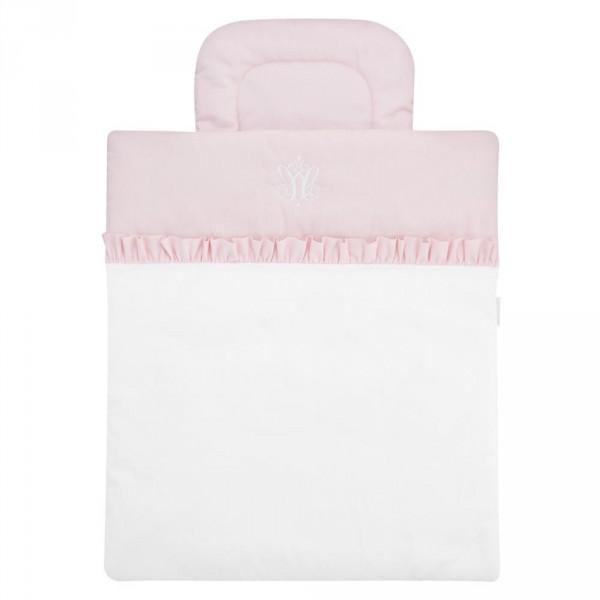 Caramella Bettwäsche für Moseskörbchen rosa