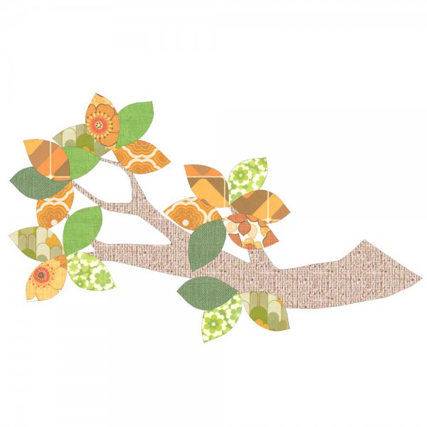 Inke Tapetenast Relief grün/braun