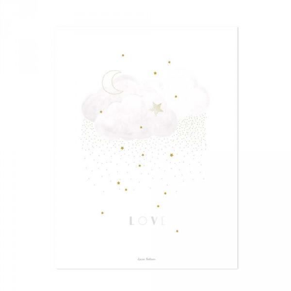 Lilipinso Poster Wolken LOVE grau