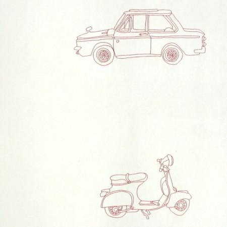 Harlequin Tapete Autos rot