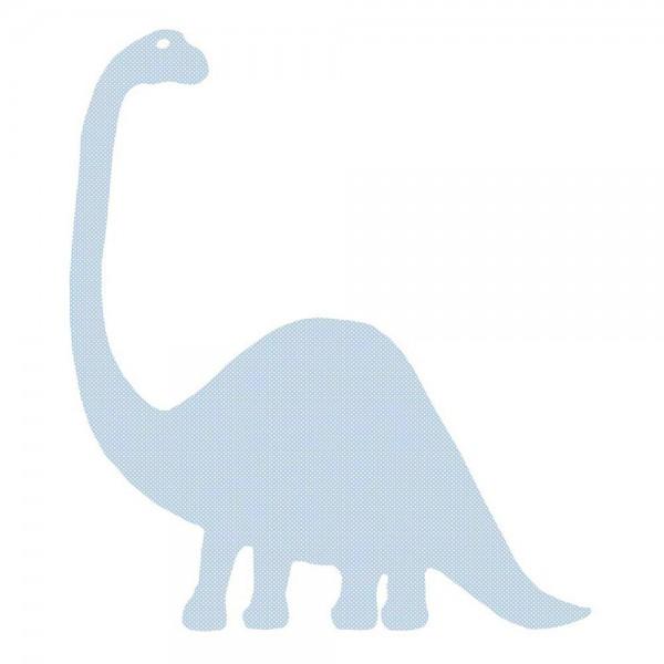 Inke Tapetendino Brontosaurus hellblau Punkte weiss