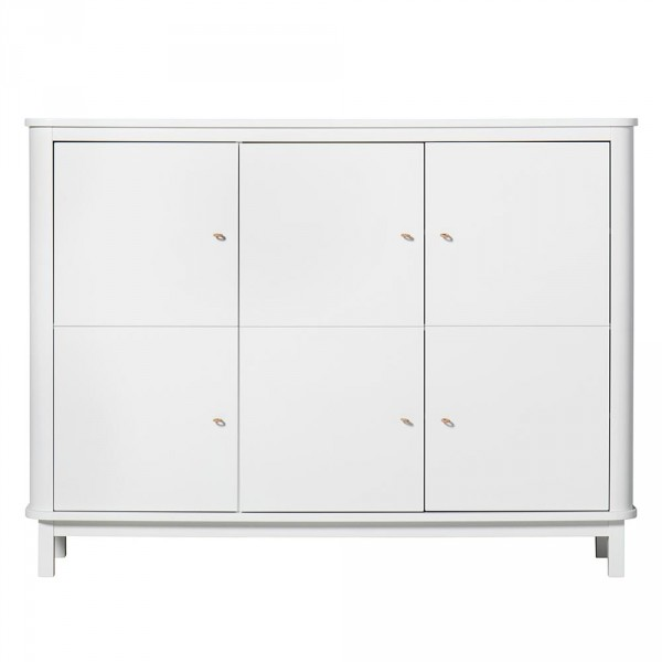 Oliver Furniture Wood Multi Schrank 3 türig weiss