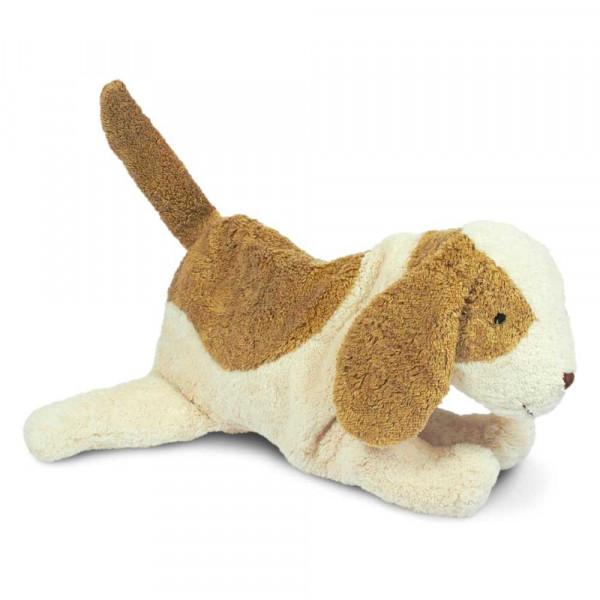 Senger Kuscheltier Wärmekissen Hund weiß beige