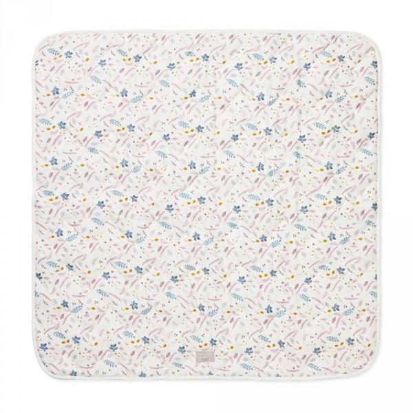 Cam Cam Babydecke 100 x 100 Blätter rosa