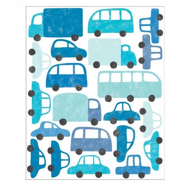 tresxics Wandsticker Autos blau