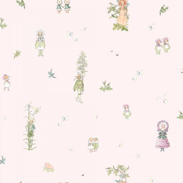Boras Tapeter Kindertapete Blomstefesten rosa