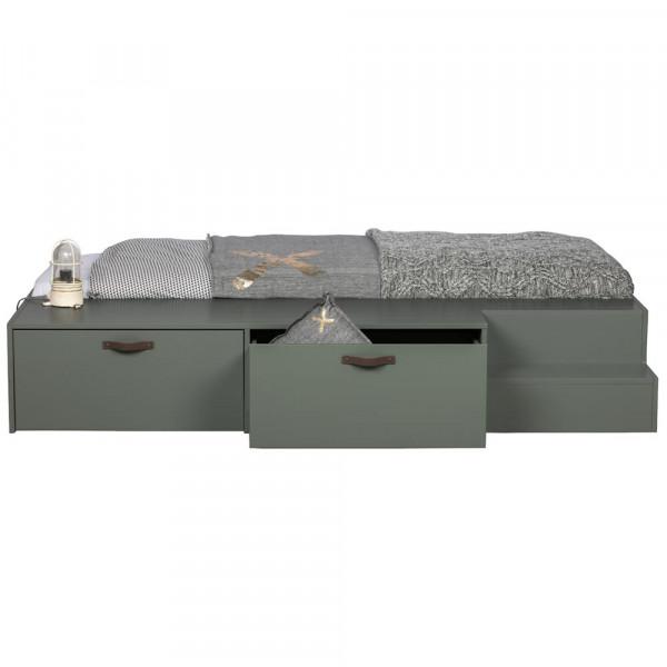 Vtwonen Schubladenbett grau grün