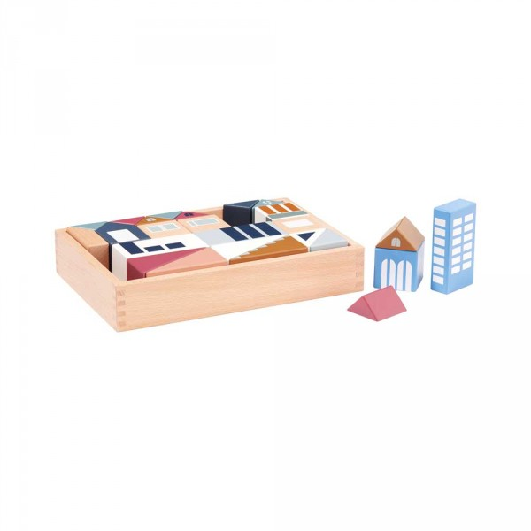 Kids Concept Spielzeug Bauklötze Stadt Holz