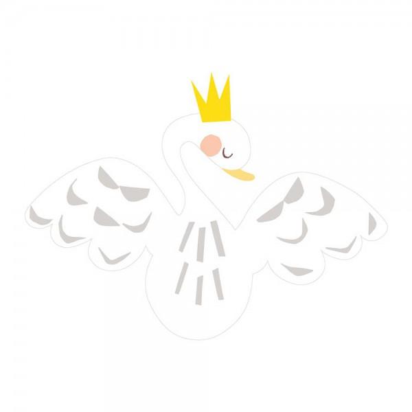 Lilipinso Wandsticker XL Schwan mit Krone