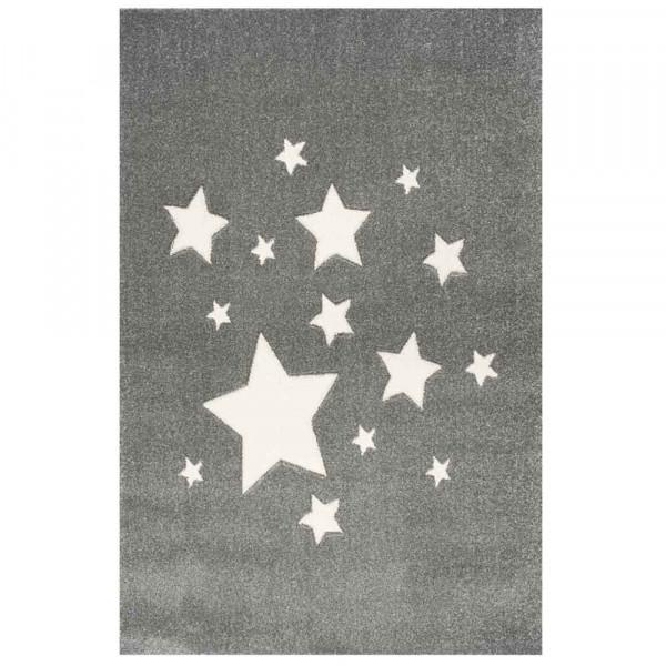 Scandic Living Kinderteppich Sterne silbergrau