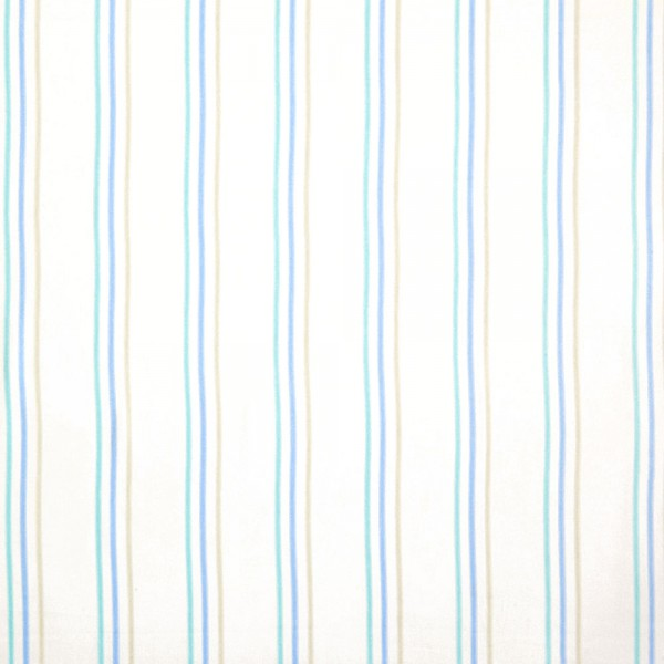 Casadeco Arc En Ciel Stoff Streifen Aquarell türkis blau grau