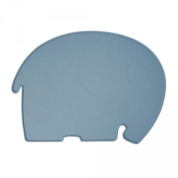 Sebra Kinder Tischset Silikon Elefant blau