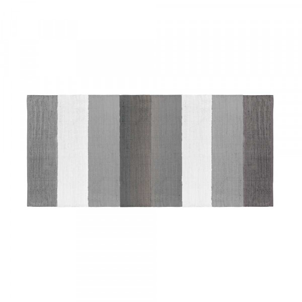 Sebra Kinder Webteppich Streifen grau