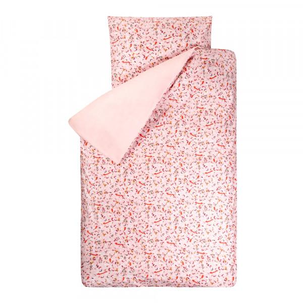 Bink Bettwäsche Sofie Tiere rosa 135 x 200