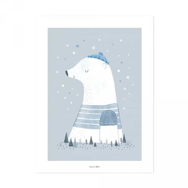 Lilipinso Poster Olaf Eisbär grau weiß