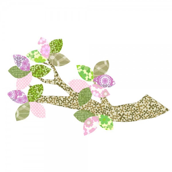 Inke Tapetenast grün/rosa