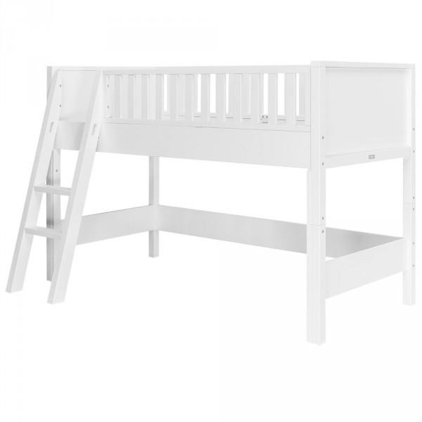 Bopita Nordic Komplettset halbhohes Bett weiß schräge Leiter