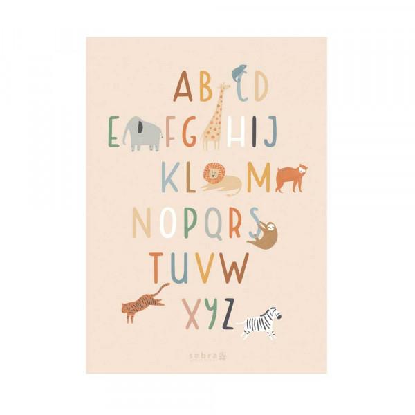 Sebra Kinder Poster Wildlife ABC 50 x 70