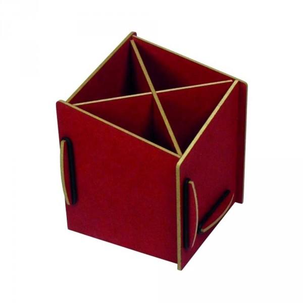 Werkhaus Stiftebox diagonal rot