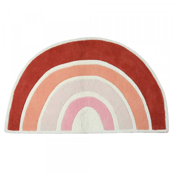 Lilipinso Teppich Regenbogen rosa