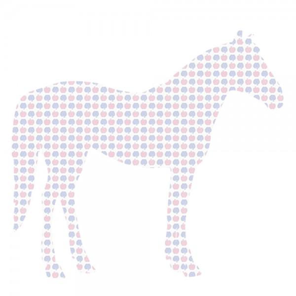 Inke Tapetentier Pferd Apfelmuster blau rosa