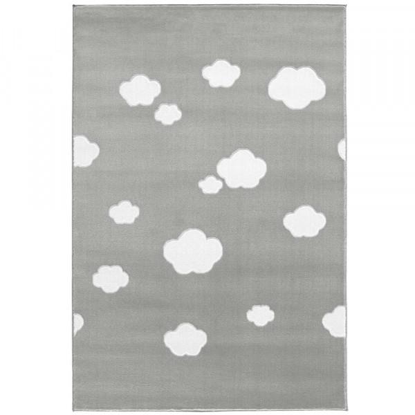 Livone Teppich Wolken grau