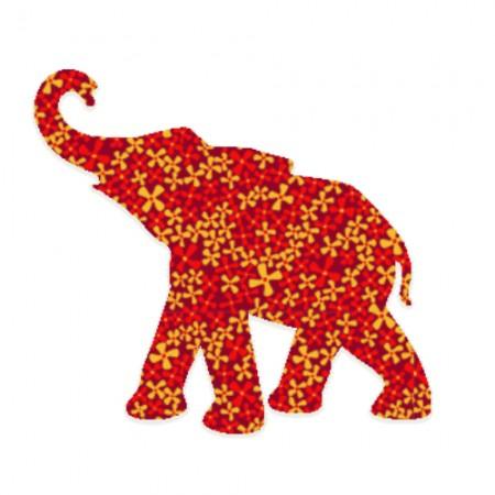 Inke Babyelefant Pusteblume rot