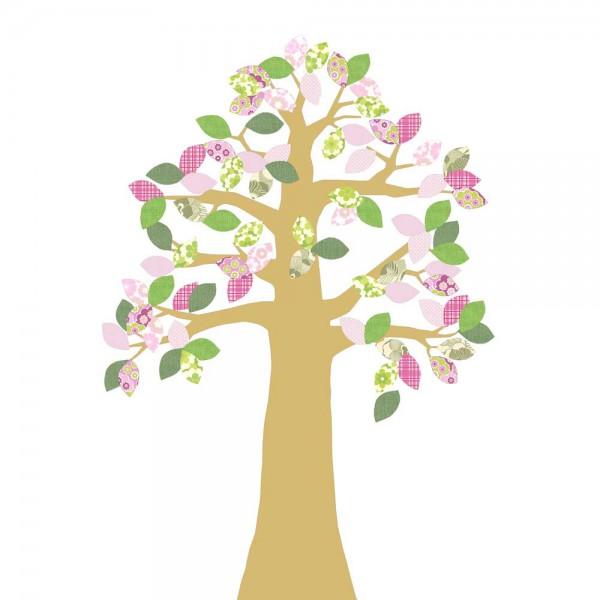 Inke Tapetenbaum gold grün/rosa